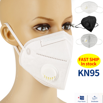 1-100pcs KN95 FFP2 Masks with Valved Face Mask Respirator kn95 ffp2 ffp3 Reusable Mascarillas  Mask Mascarilla Masque KN95 Masks