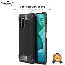 Wolfsay For Honor V30 Pro Case Shockproof Armor Rubber Hard PC Phone Case For Honor V30 Pro Back Cover For Huawei Honor V30 Pro 360 full protection case for huawei honor v30 case luxury hard pc shockproof cover for honor view30 pro v30 bumper capa
