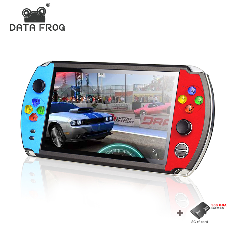 Frog Data 4 3   5 inch Double Rocker handheld game console tv stand output x12 retro portablegame pl handheld video game player