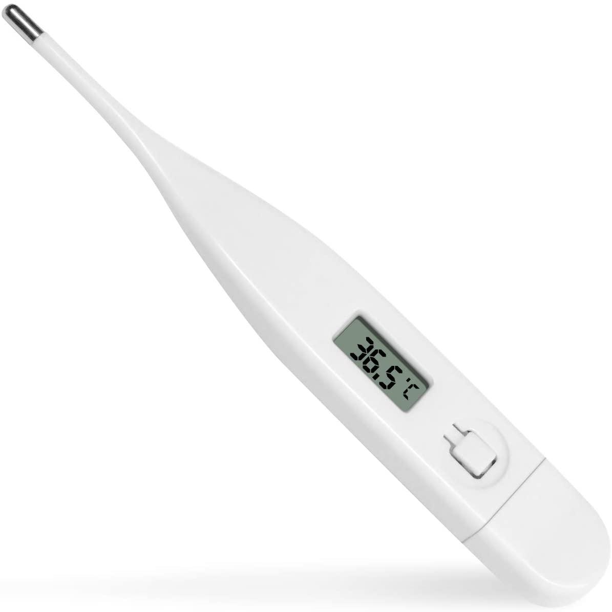 Termômetro digital lcd oral para crianças/adultos, sonda de metal macio, medição segura e rápida, leituras em 10-20 seco [4]