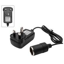 Universal 220v tomada para 12v adaptador de soquete conversor isqueiro do carro ac/dc soquete conversor adaptador eua/ue/reino unido plug
