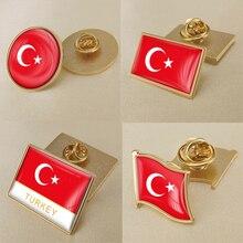 Герб Турция карта Национальный флаг Эмблема с национальным цветочным брошь значки нагрудные знаки