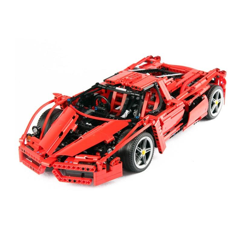 1:10 Racers Ferrared Enzo Super Car Enzo set fit 8653 Technic Legoings Building Blocks Bricks Kids DIY Toys Gifts 1359pcs