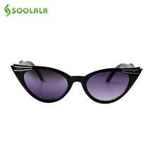 SOOLALA Cat Eye Reading Glasses Women 0.5 1.25 1.75 Sunglasses Night Vision Eyeglasses Prescription Sun