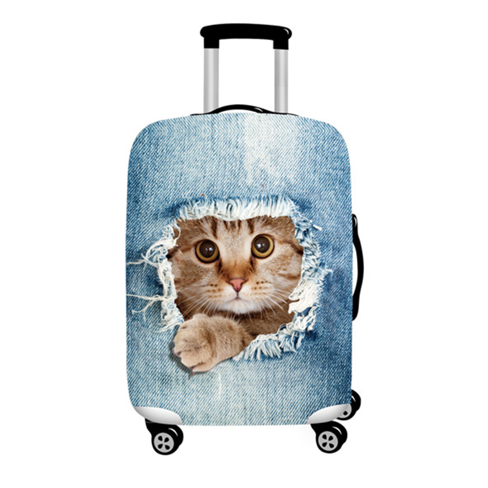 Travel Durable Universal Polyester Accessories Suitcase Cover Anti Scratch Washable Protective Case High Elasticity Easy Apply in Bag Parts Accessories from Luggage Bags