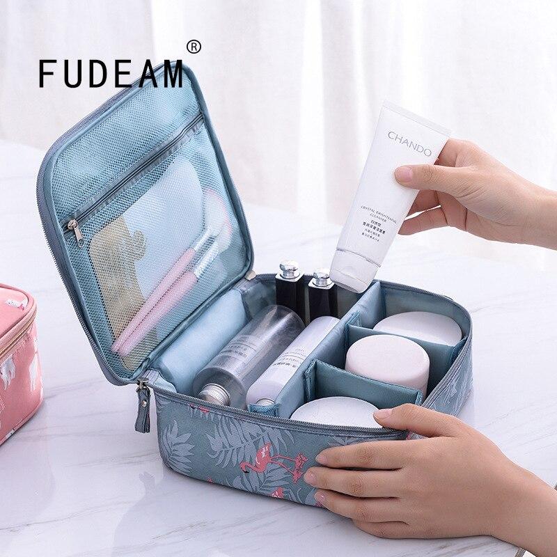 FUDEAM Thicken Oxford Multifunction Women Travel Storage Bag Toiletries Organize Cosmetic Bag Portable Waterproof MakeUp Case