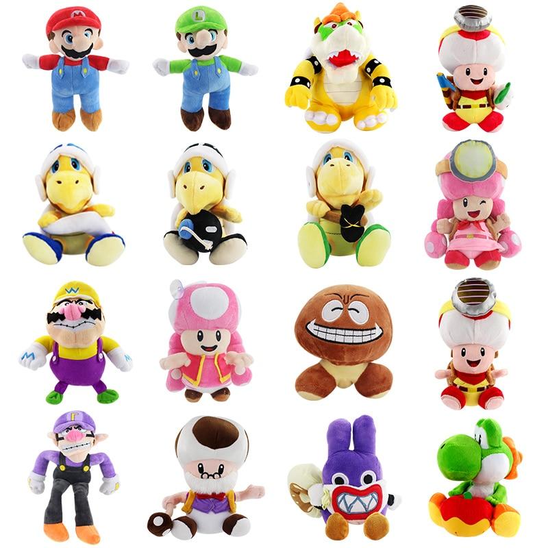 15 28cm Super Mario Brothers Luigi Yoshi Koopa Wario Waluigi