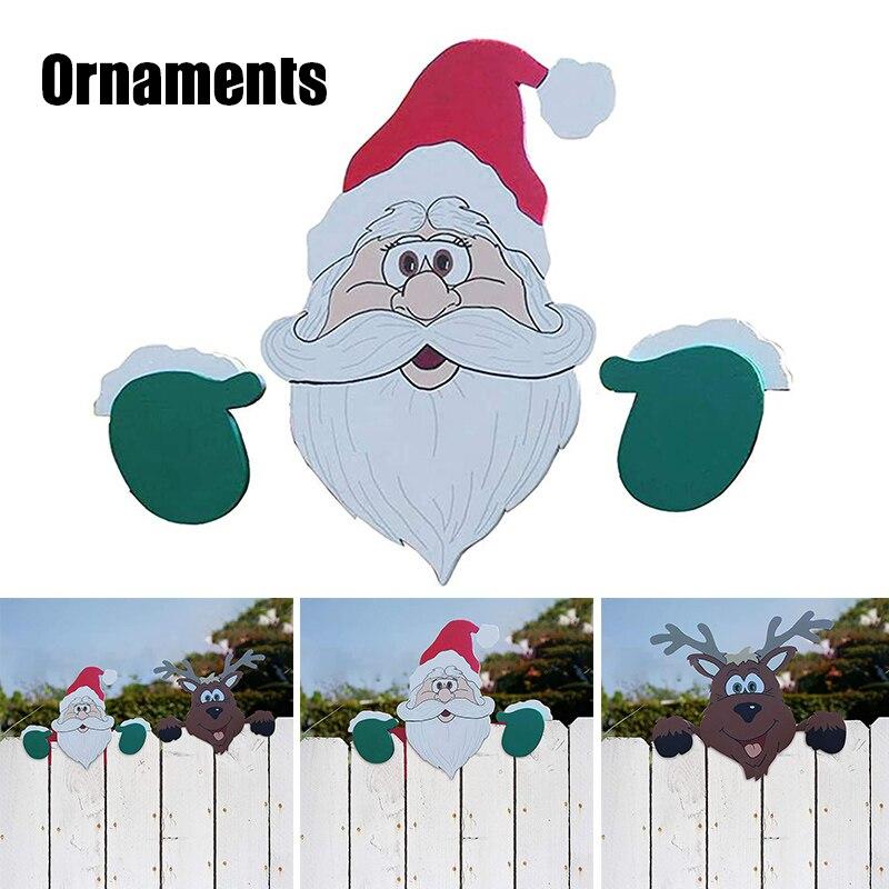 Санта-Клаус Рождественская изгородь Peeker праздничное уличное украшение прочный многоразовый XR-Hot