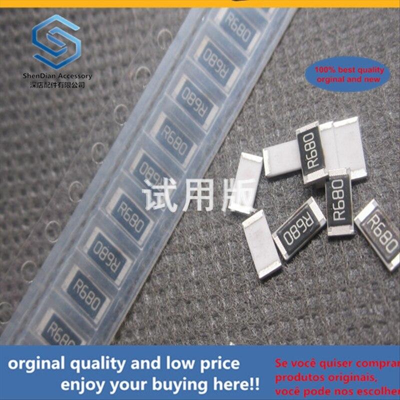 50pcs 100% Orginal New Best Quality Chip Resistor 2010F 0.68R 0.68 Euro Precision 1% 5025 Package Silk Screen R680 3 / 4W