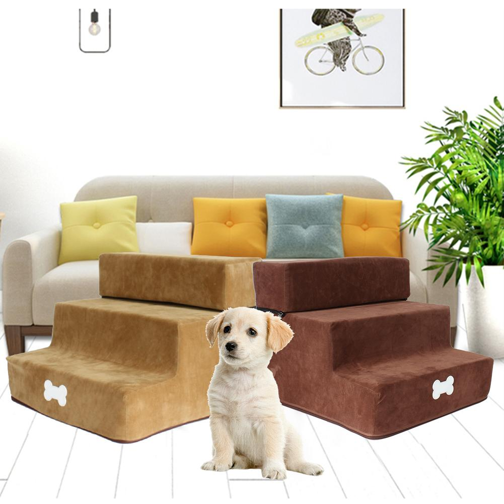 Pet Stair Step Flannel Dog Detachable Three-Story Staircase Assembly Removable Wash Stairs Ladder Dog Stair