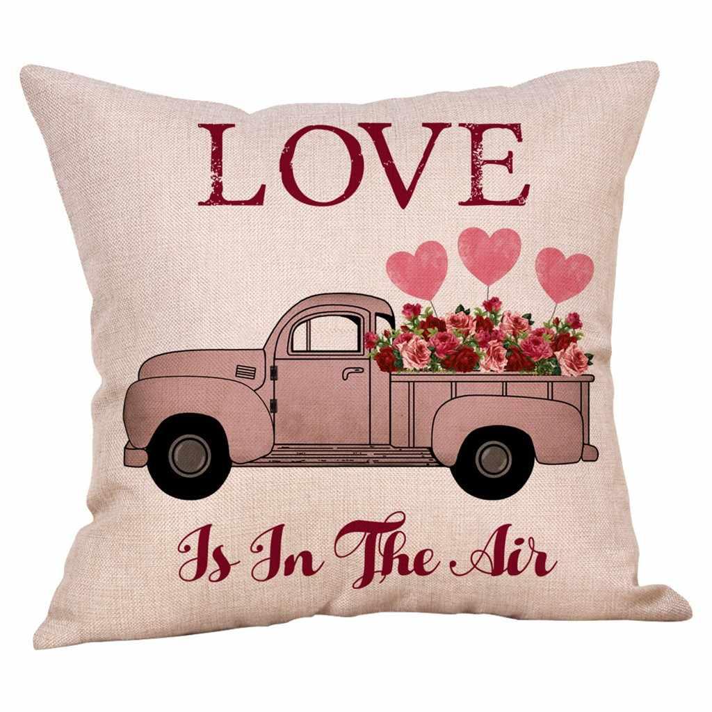 سعيد عيد الحب رمي الزخرفية رمي عشاق زوجين كيس وسادة الكرتون ارتفع الحلو الحب وسادة غطاء الوسادة للمنزل