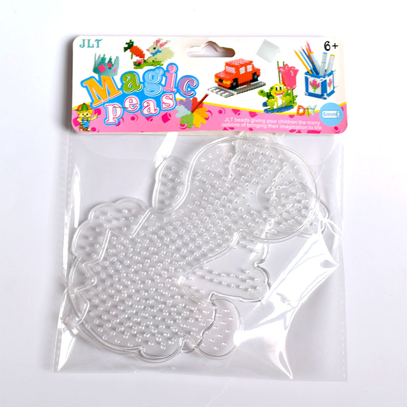 5mm Hama Beads Kit For Kids  Fuse Beads Puzzle Pegboards Patterns DIY Toy Fuse Puzzles Template