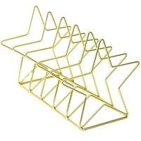 Złoty S kształt ściernice Bookend organizer na biurko pulpit biuro w domu Bookends stojak na książkę stojak na książki kreatywny regał do przechowywania na