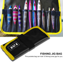 2 Color Fishing Jig Bag Sea Waterproof PVC Fishing Jig Lure Tackle Gear