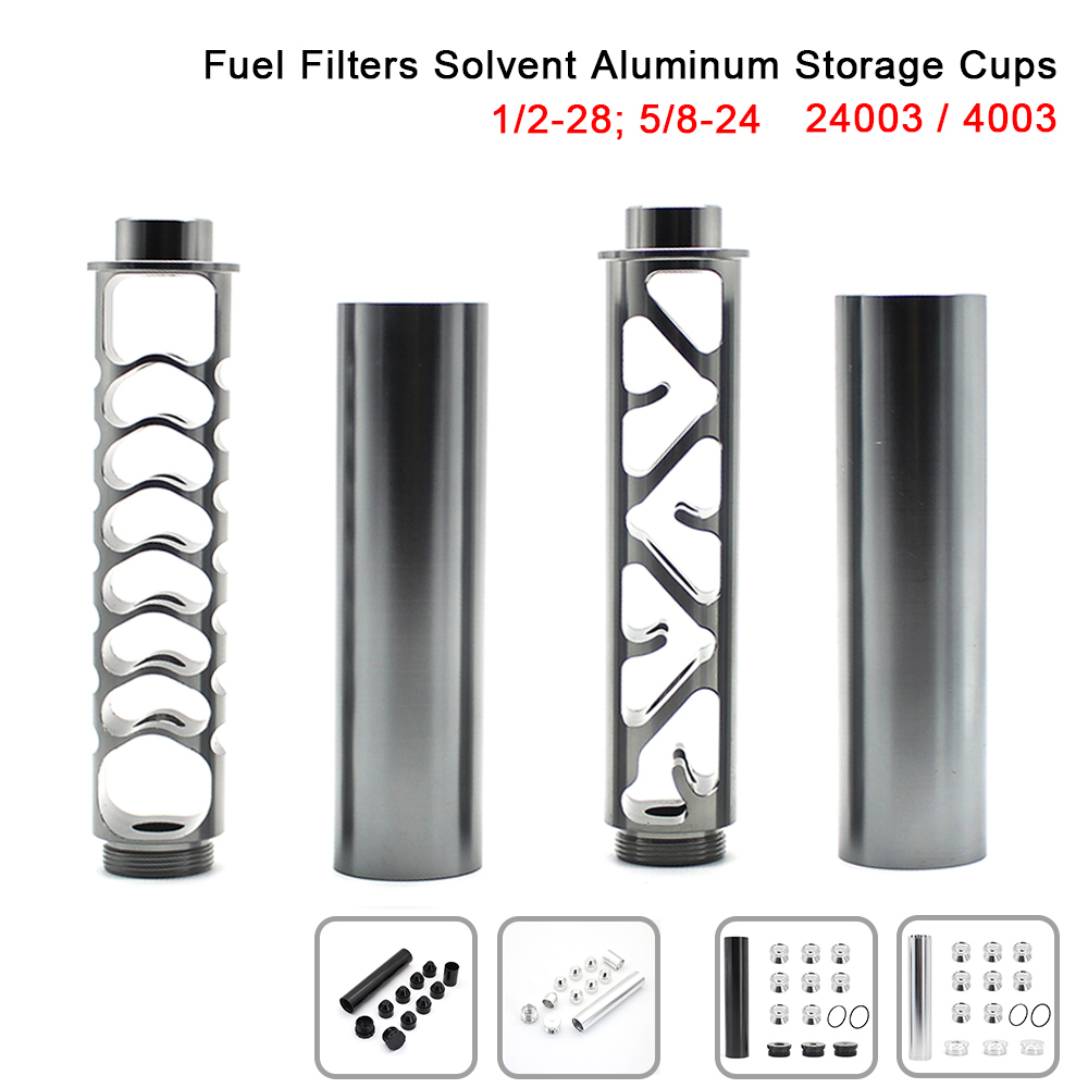 1/2-28 FUEL-FILTER Solvent-Trap Napa 4003 Aluminum 5/8-24 for WIX Black Gray R-EP