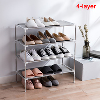 Multi-layer Shoe Racks Simple Household Dust-proof Assembly Shoes Cabinet Dormitory Multi-purpose Shoes Shelf