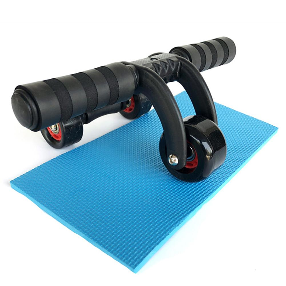 4 Wheel Power AB Abdominal Roller Wheel For Belly/Waist/Arms/Legs Workout Fitness Gym Exercise Body Building Training Equipment