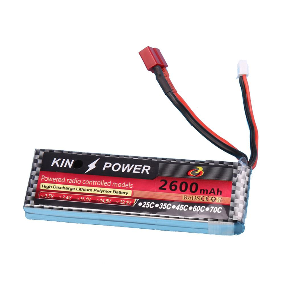 <font><b>7.4V</b></font> <font><b>2600mAh</b></font> Lipo <font><b>Battery</b></font> T Plug for WLtoys 1/14 144001 RC Car Upgrade Parts image