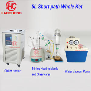 Distillation Chiller Heating Mantle Short-Path 5L with 220V Stirring Heaater And Vacuum-Pump