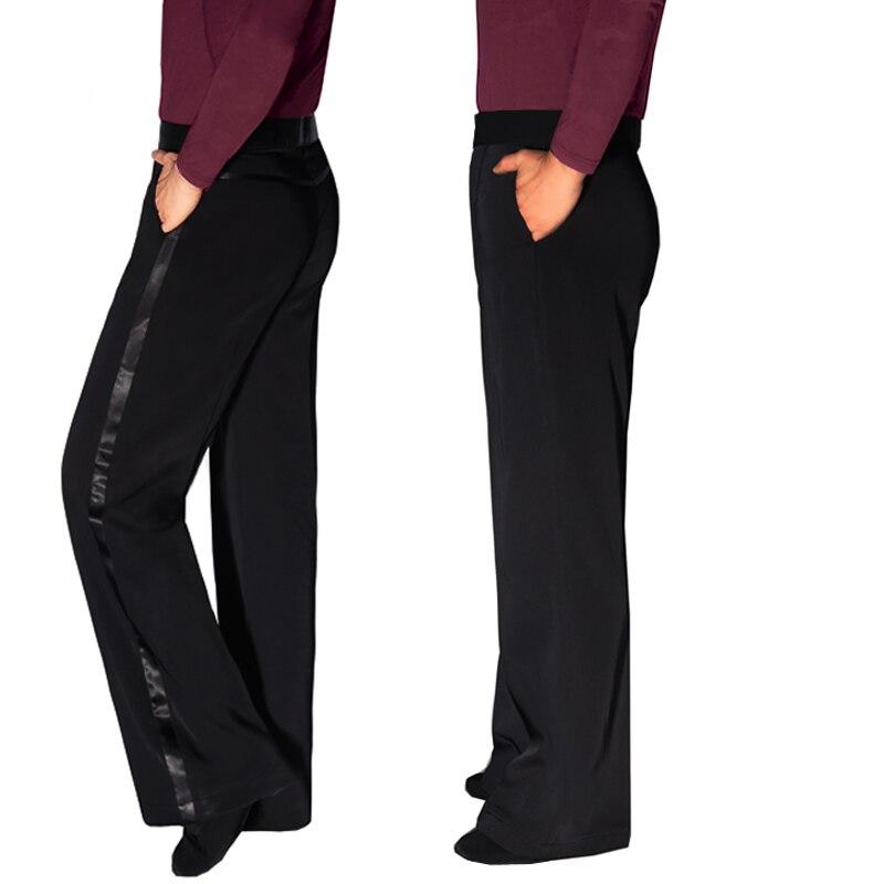 Comfort Men Dance Pant With Pocket Latin Dance Dress 2019 Rumba/ Samba/Chaca Standard Dance Costume Latin Dance Pant VDB710