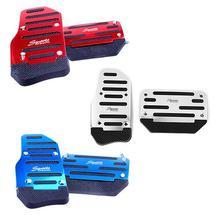 2 шт., нескользящая Автомобильная педаль с автоматической коробкой передач, ручная Автомобильная Тормозная муфта, акселератор из алюминиевого сплава, противоскользящая ножная педаль