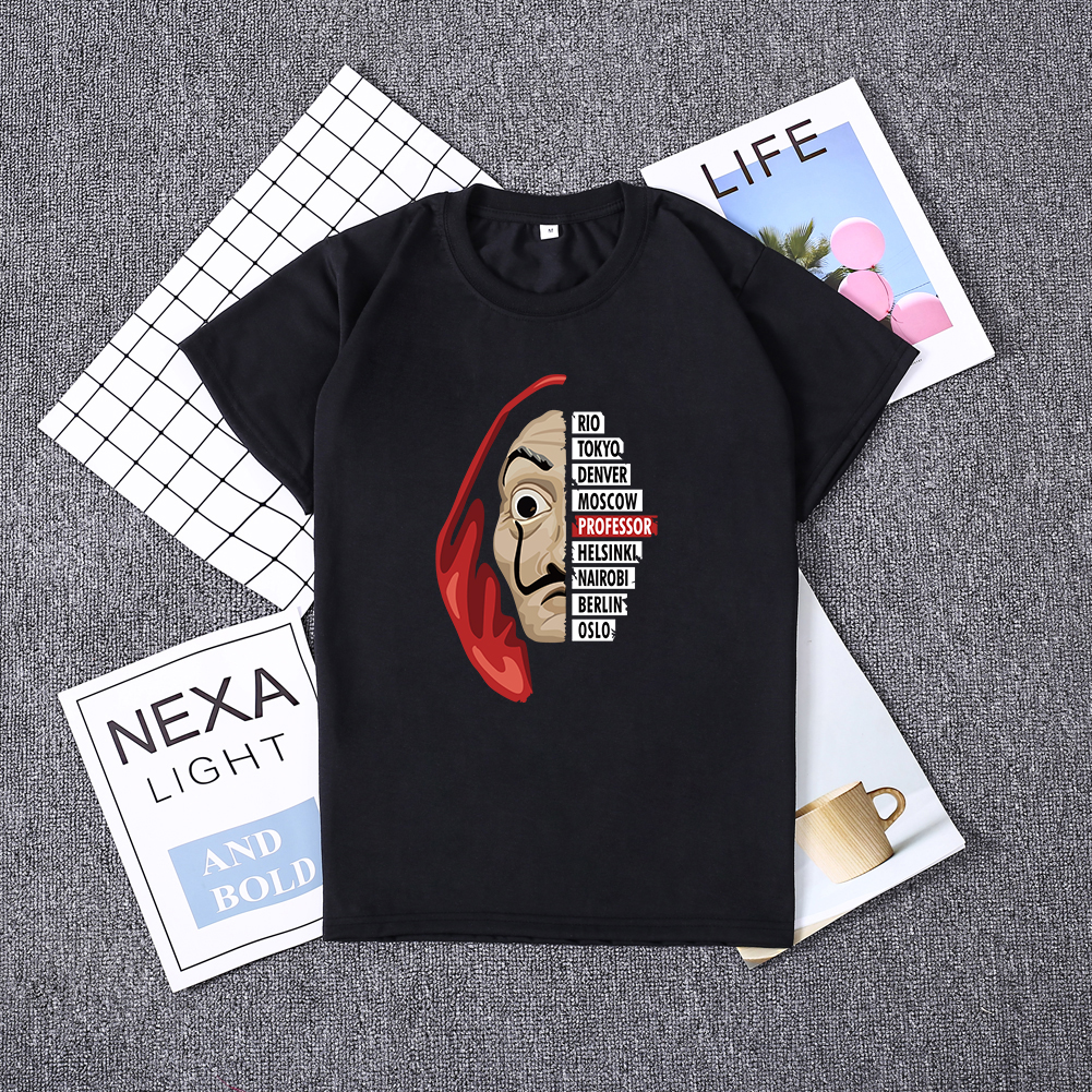 Hillbilly La casa de papel women tshirt Money Heist The House of Paper Camiseta T Shirt Dali Mask Casa De Papel short sleeve top(China)