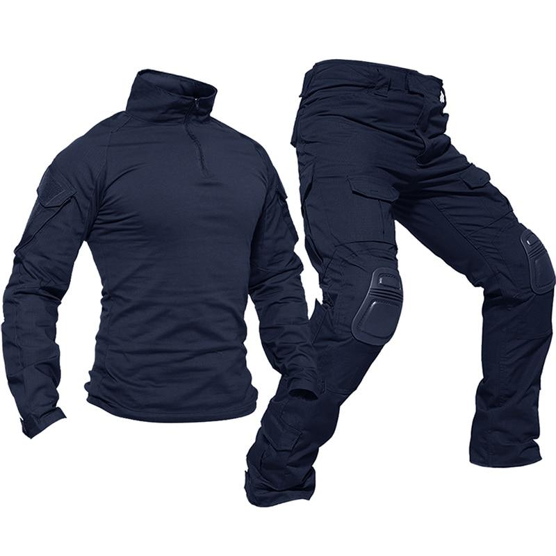 Set Seragam Taktis Magcomsen Pakaian Airsoft Militer Kamuflase Pria Celana Bantalan Lutut Baju Tempur Setelan Berburu Pakaian Tentara Militer Aliexpress