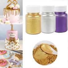 5/15g Edible Cake Gold Powder Mousse Cake Fondant Macaron Chocolate Decor Flash Glitter Silver Pearl Powder Baking Color Dust