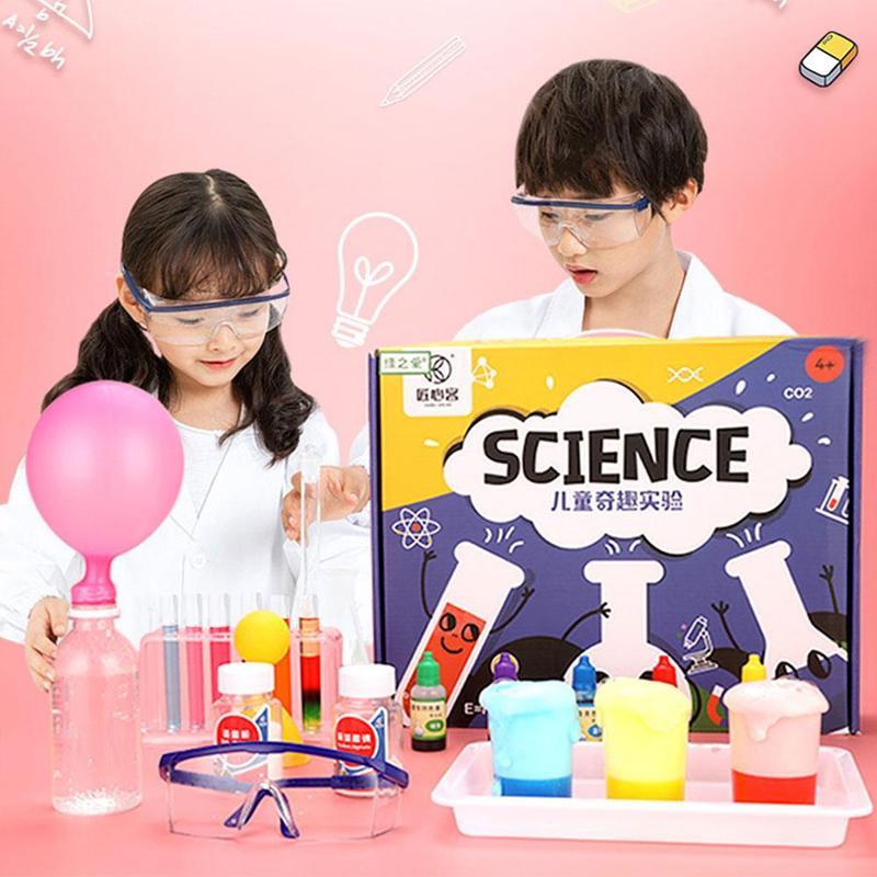Set de experimentos de ciencia para niños, de 133 Uds., hecho a mano, para estudiantes de escuela primaria, ayuda en Enseñanza de Química Física - 2