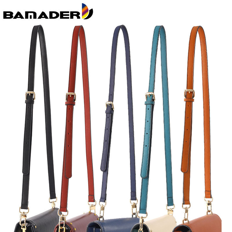 BAMADER Leather Narrow Shoulder Bag Strap Fashion DIY Shoulder Strap Replacement Woman Adjustable Cross Body Bag Straps New