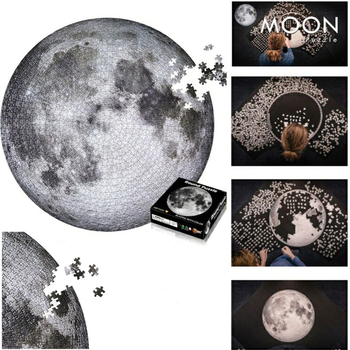 Moon Earth 1000 Pieces Jigsaw Puzzles Educational Toys Scenery Space Stars Educational Puzzle Toy for Kids/Adults Birthday Gift 1000 pieces jigsaw puzzles educational toys scenery space stars educational puzzle toy for kids birthday gift stickers