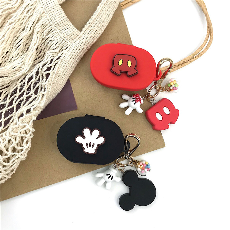 Cartoon Mickey Minnie Silicone Earphone Case For Xiaomi Redmi AirDots Shockproof Cover For Xiaomi Redmi AirDots Protector Case