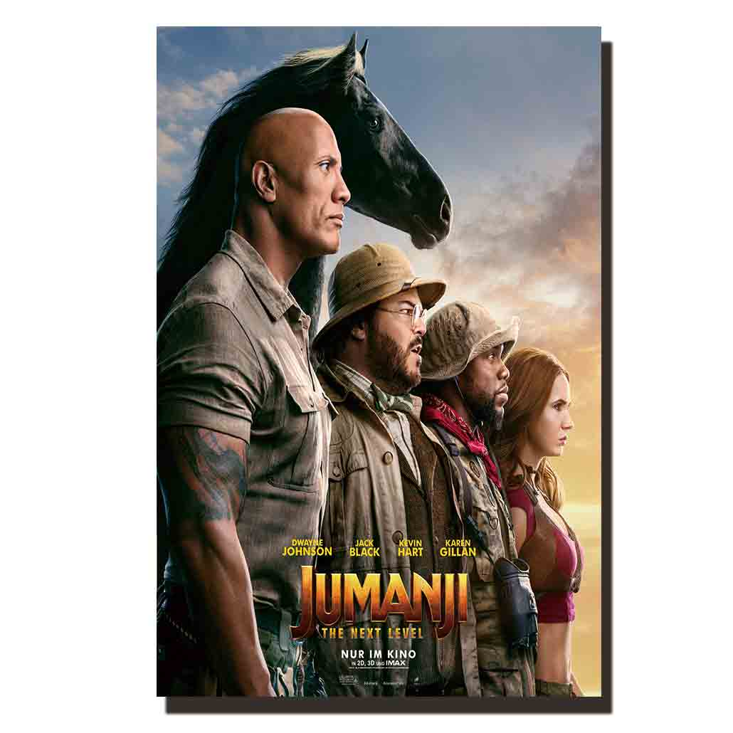 Z333 jumanji the next level movie poster hot film fabric art painting 14x21 24x36 print Decoration Room wall Picture