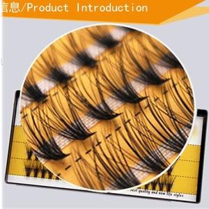 Image 5 - 3 linie jedwabne norek pojedyncze rzęsy Flare natura długie rosnące przedłużanie rzęs uroda narzędzia do makijażu