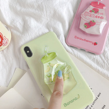 Fashion Liquid Water Quicksand Fruit Soft Silicone Cover Case for