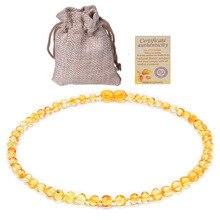 GIA Сертифицированный натуральный балтийский янтарь ожерелье браслет избавляет от боли в зубах детей успокаивающий подарок ювелирные изделия ручной работы
