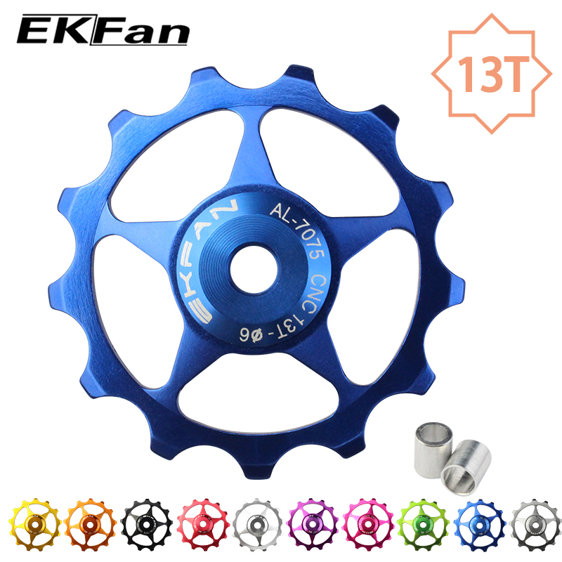 13T Aluminum Alloy MTB Bicycle Rear Derailleur Pulley Jockey Wheel Road Bike Guide Roller Idler Part Cycling Accessory 10 Color(China)