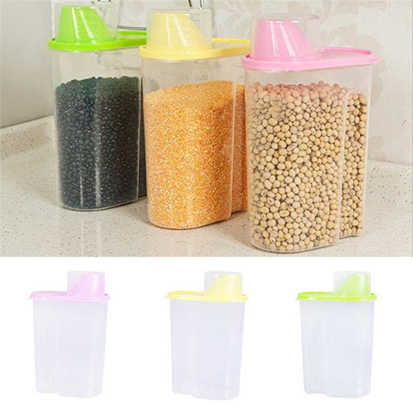 Cereal Dry Food Storage Container Airtight Leakproof Storage Bottle With Locking Lids for Cereal Flour Sugar Rice Storage J20