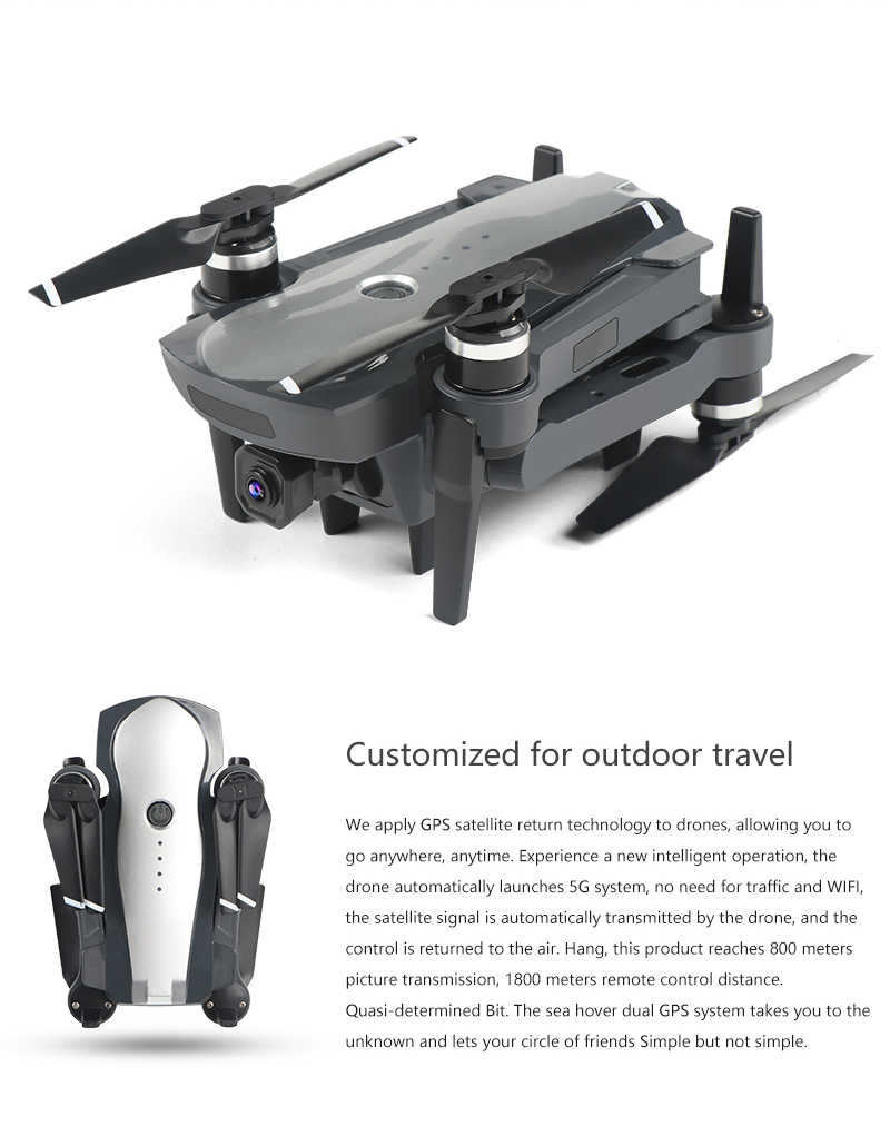 新しいブラシレス GPS FPV Quadcopter 4 18K HD Wifi ESC ジンバルカメラ RC ヘリコプター折りたたみドローン GPS Dron 子供ギフト