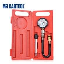 Mr cartool g324 0 300psi compressão cilindro do motor tester gasolina medidor de pressão tester kit ferramenta de diagnóstico do carro