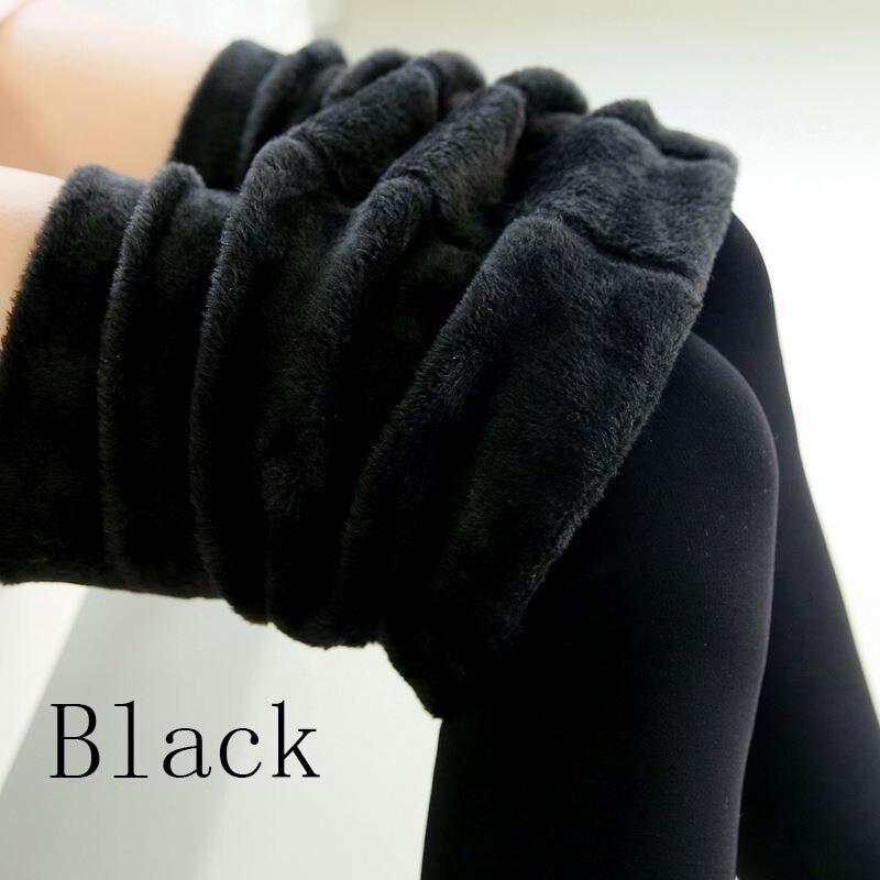 Новые модные женские осенне-зимние штаны высокого эластичности и хорошего качества, плотные бархатные штаны, новые теплые леггинсы Rooftrellen - Цвет: 88 black