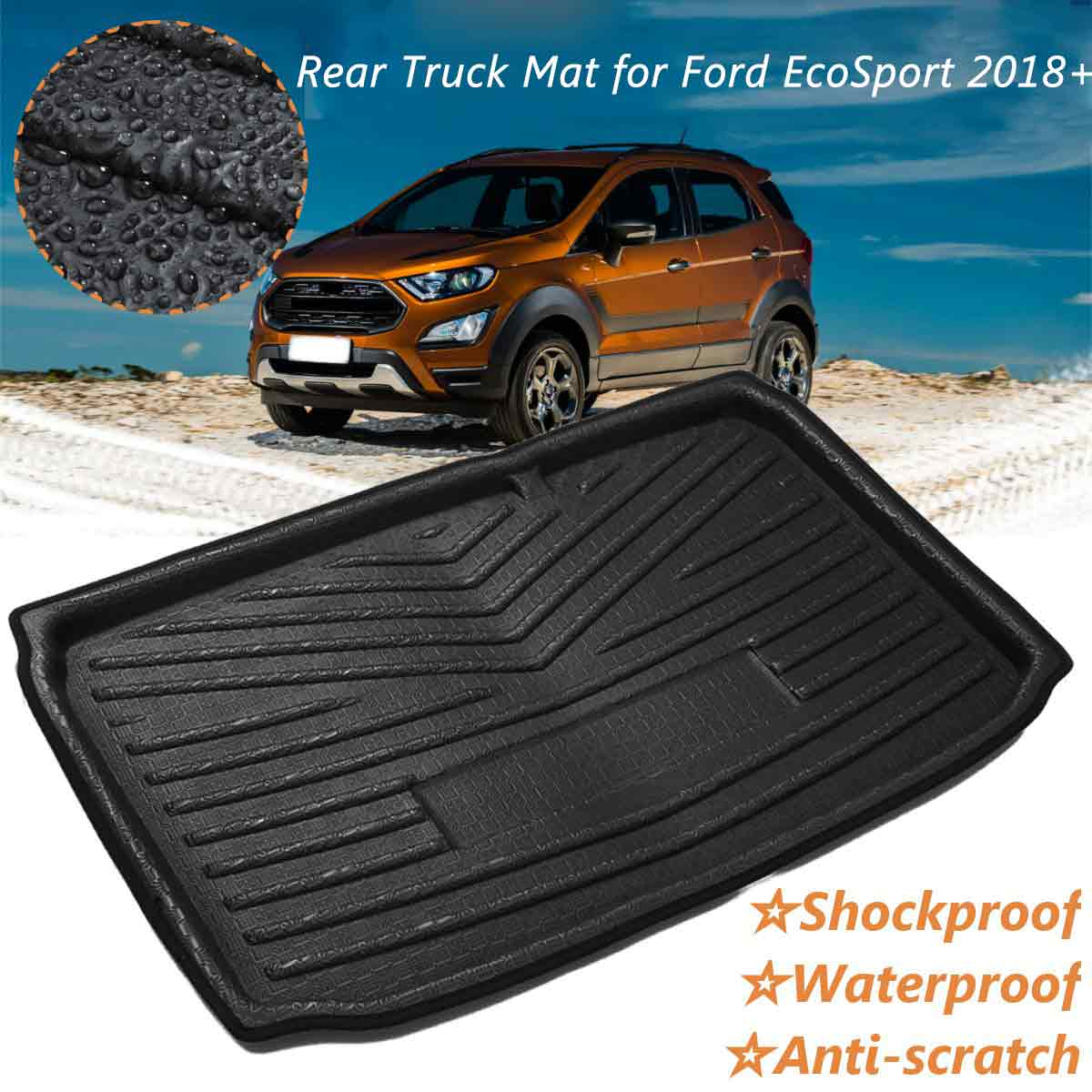 Car Auto Rear Boot Cargo Liner Trunk Floor Mat Carpets Luggage Tray Mats Pad Mat Carpet For Ford EcoSport 2018 2019+ Car Styling