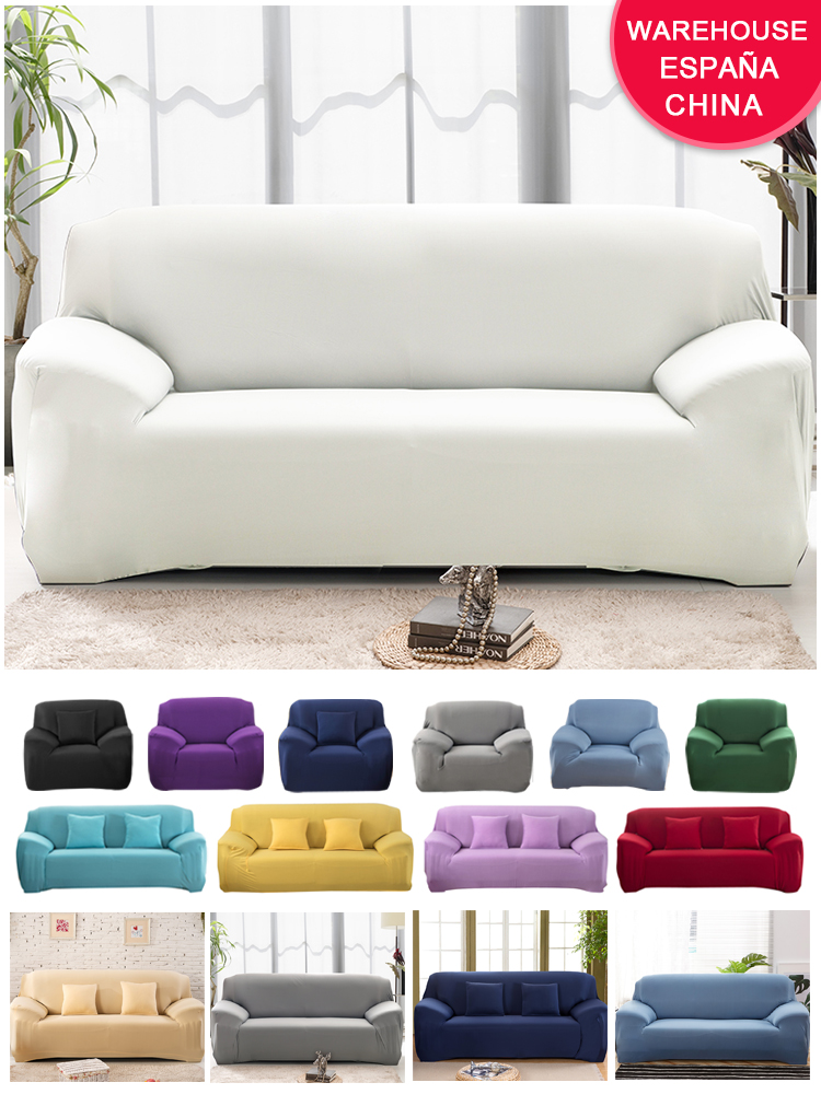 Sofa-Cover Pillow-Case Tight-Wrap Chair Stretch Living-Room Elastic White for All-Inclusive