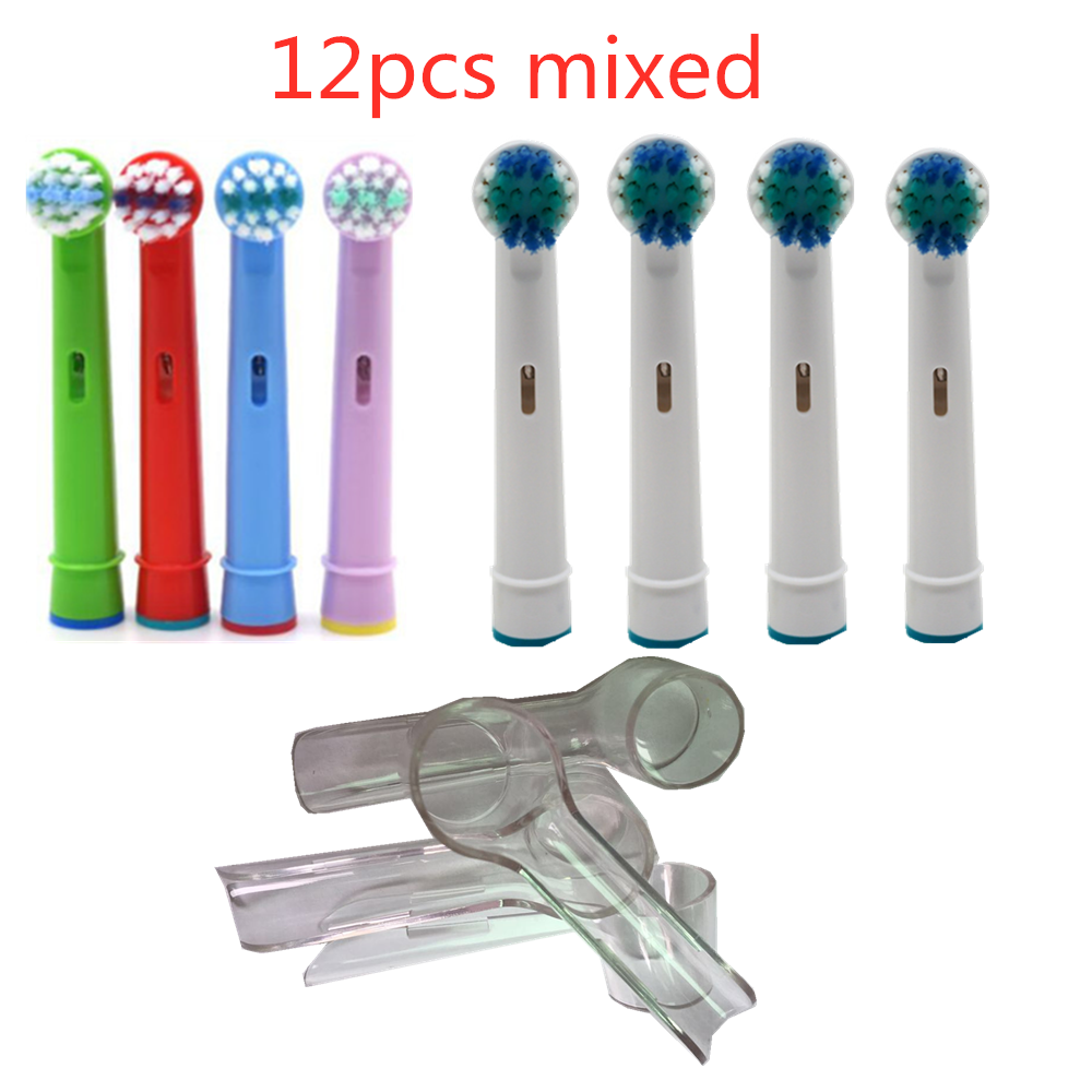 Oral B Electric toothbrush brush replacement brushhead nozzle + Children Replacement toothbrush heads + protection cover image