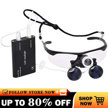 Dental loupes Surgical Magnifier 2.5X/3.5X Magnification Binocular magnifying glass with led lights Medical Operation Loupe Lamp
