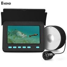 Eyoyo видео рыболокатор 4,3 дюймов HD монитор 8 светодиодный фонарь Водонепроницаемая подводная камера ночного видения для наружного рыболовного оборудования