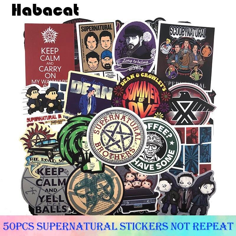 50Pcs/Pack Supernatural Graffiti Stickers American TV Series For Motorcycle Luggage Laptop Bicycle Skateboard Pegatinas