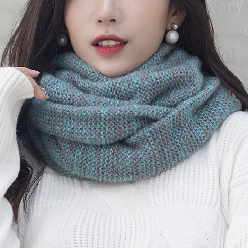2019 Women Men Knitted Snood Scarf Infinity Scarves Autumn Winter Warm Comfortable 2 Circle Ring Scarf Luxury Brand Neck Scarves