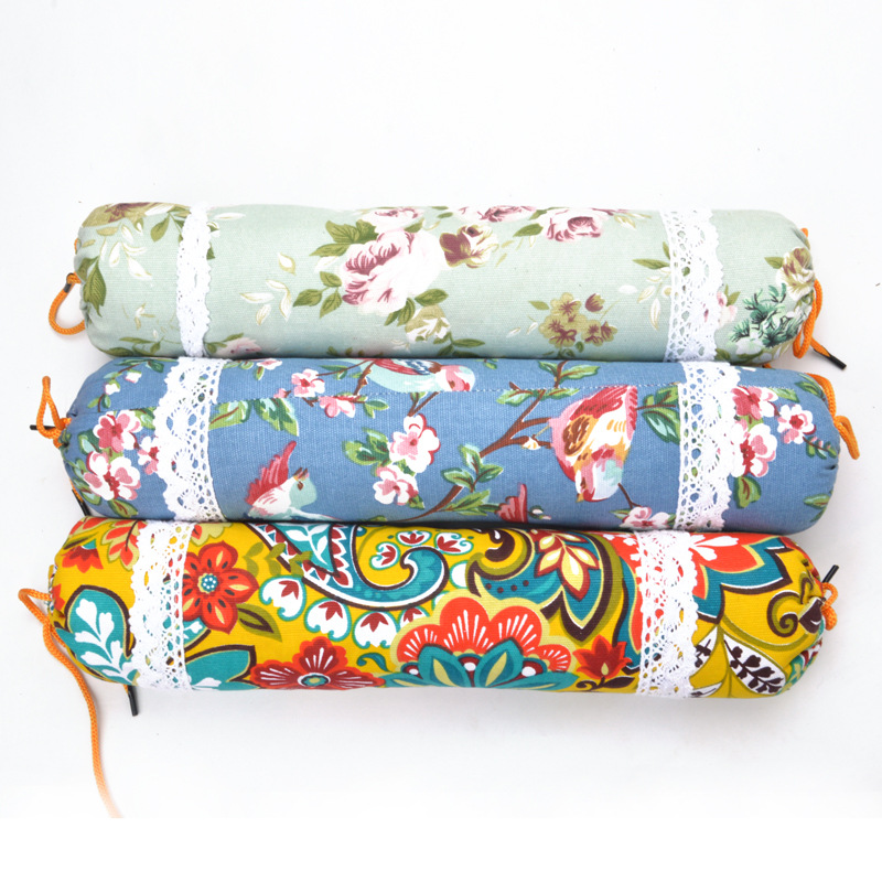 Wormwood Pillow Health Care Wormwood Healthy Pillow Cervical Pillow Cylindrical Coarse Cloth New Chinese Style Candy Shaped Pill