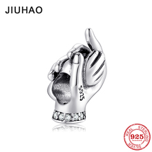 New 925 Sterling Silver fashion hold your hand Charms Beads Fit Original Pandora Charm Bracelet Jewelry making